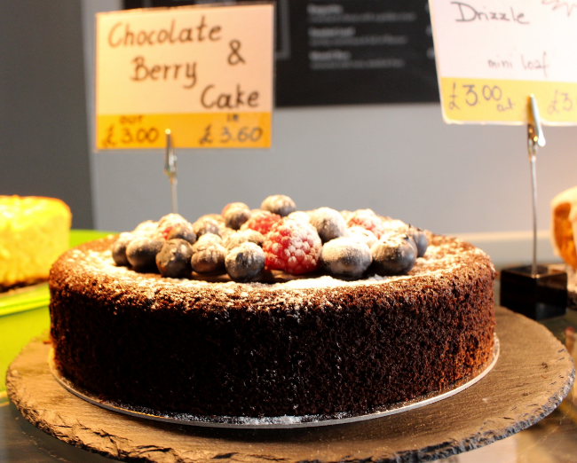 Chocolate and Berry Cake from Beyond Bread Bakery and Cafe