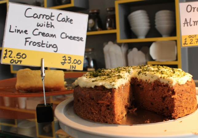 Carrot Cake with Lime Cream Cheese Frosting from Beyond Bread Bakery and Cafe