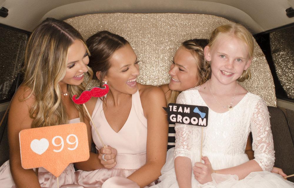 bridesmaids + flower girl _ gold backdrop.jpg