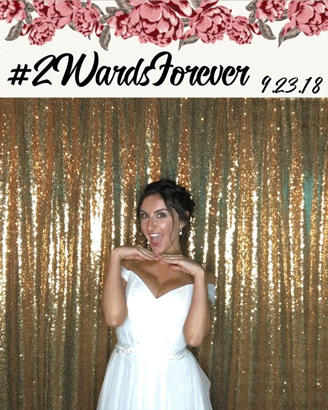 this week's wedding wednesday is featuring the beautiful @sarakckane in our social booth 😍💍😍