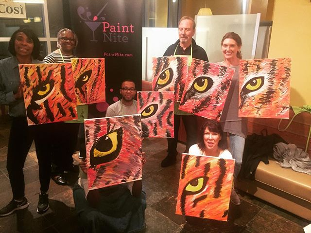 We found the Eye of the Tiger! Look out for our next #PaintNite event