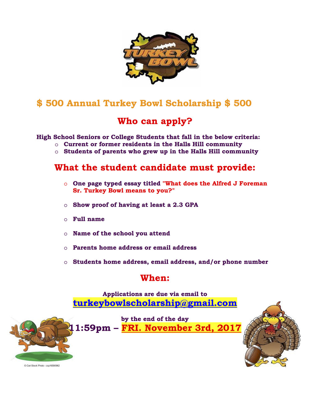 500 Annual Turkey Bowl Scholarship-2017.jpg
