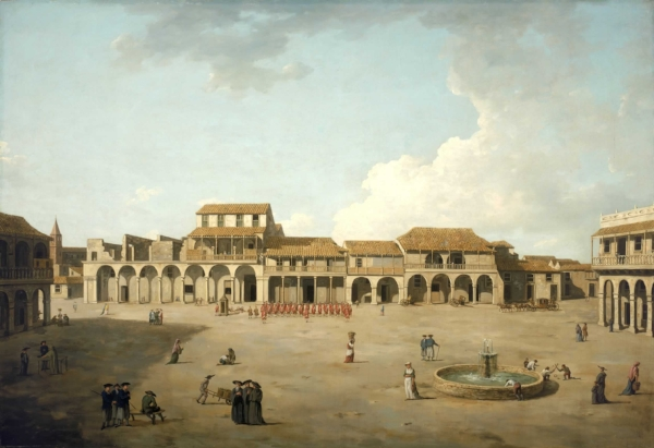 The Piazza at Havana circa 1762 |  by Dominic Serres