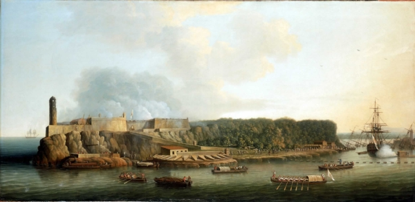 The Capture of Havana, 1762: The Morro Castle and the Boom Defense Before the Attack |  by Dominic Serres