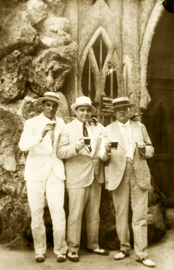 Fritz Gordon, Al Capone and Julio Morales, Mayor of Havana | Cuba, 1930