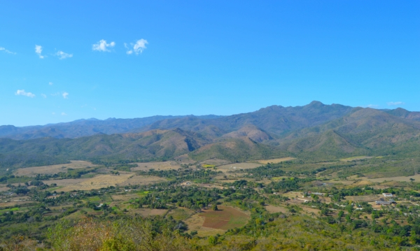 Majestic mountain ranges surround the city of Trinidad, Cuba.