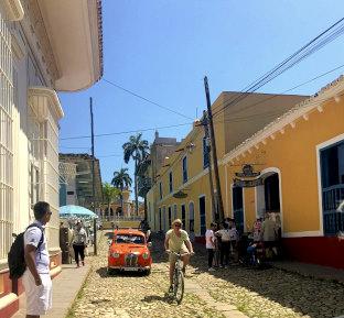 Colorful cobblestone streets in Trinidad.
