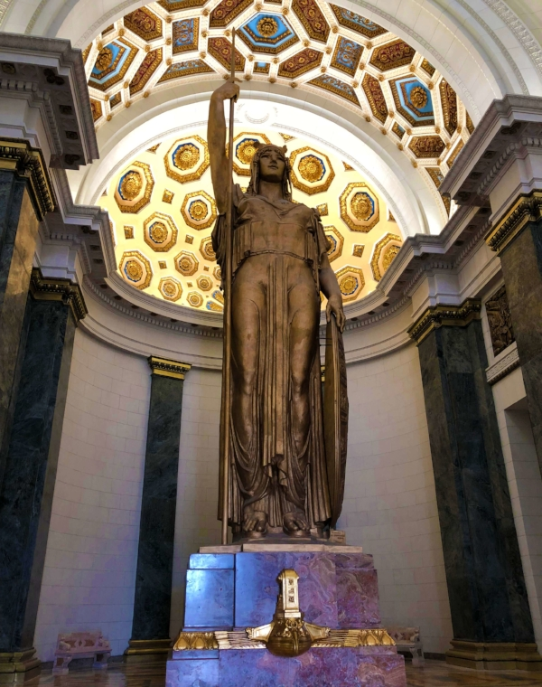 The Statue of the Republic housed inside El Capitolio
