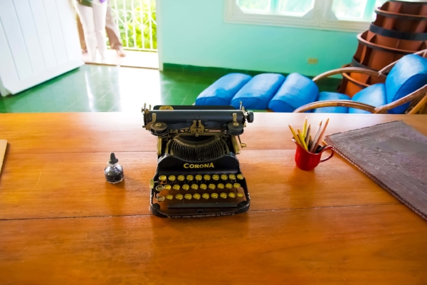The infamous author's writing desk and typewriter ©ajlber/123rf