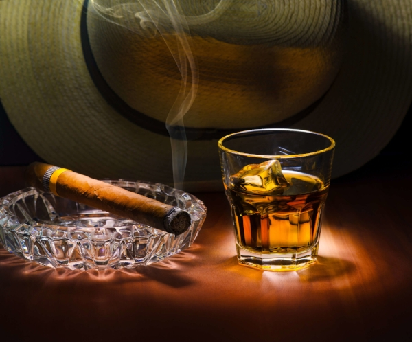 Pair your Cuban cigar with a nice rum or whisky. Enjoy responsibly!