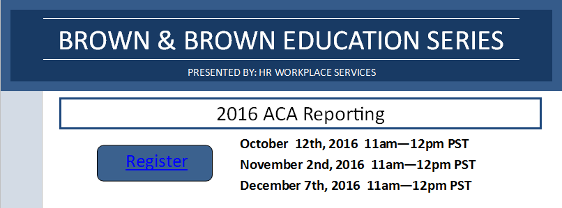 Employee Benefits ACA Reporting HR Workplace