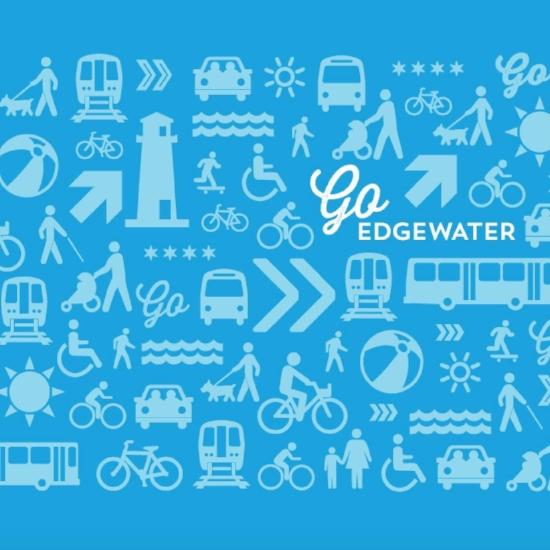Go Edgewater - The Edgewater Historical Society is supporting the program of the Edgewater Environmental Sustainability Project to encourage residents to explore the community by walking, by bike or by public transportation.