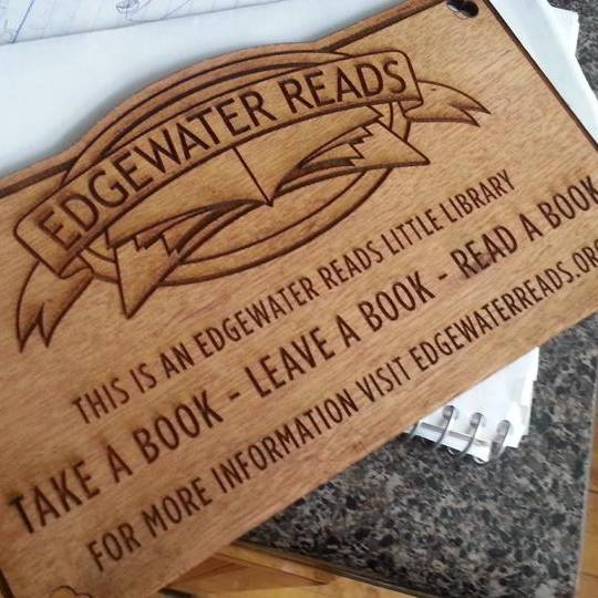 Edgewater Workbench - 3D printing and laser cutting services (Edgewater Reads plaque creators)