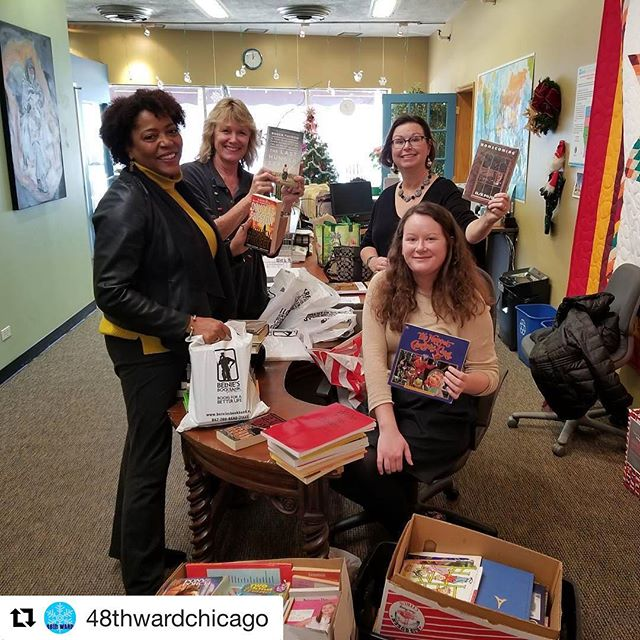 Stop by Alderman Osterman's Ward Office to pick up books for your little library!! Huge thank you to @wcfbook and @northwesternu for donating books for our neighbors!