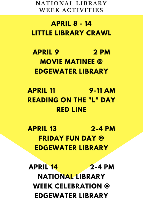 Co-sponsored by Edgewater Reads and Friends of the Edgewater Library.