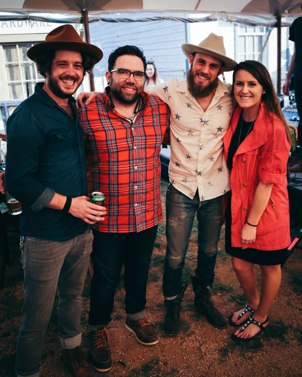 Joshua, Keith (our booking agent), Denton, & Jaclyn (our publicist) at Willie Nelsons before we played.