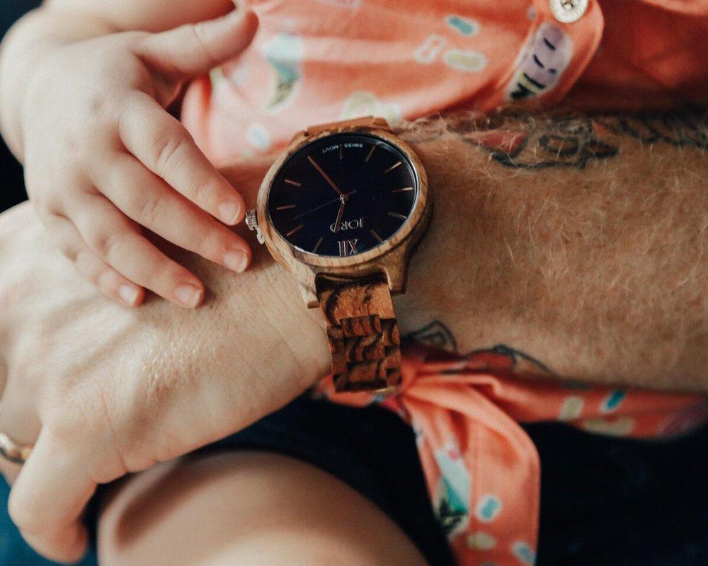 Frankie - Zebrawood & Navy JORD Watch linked below