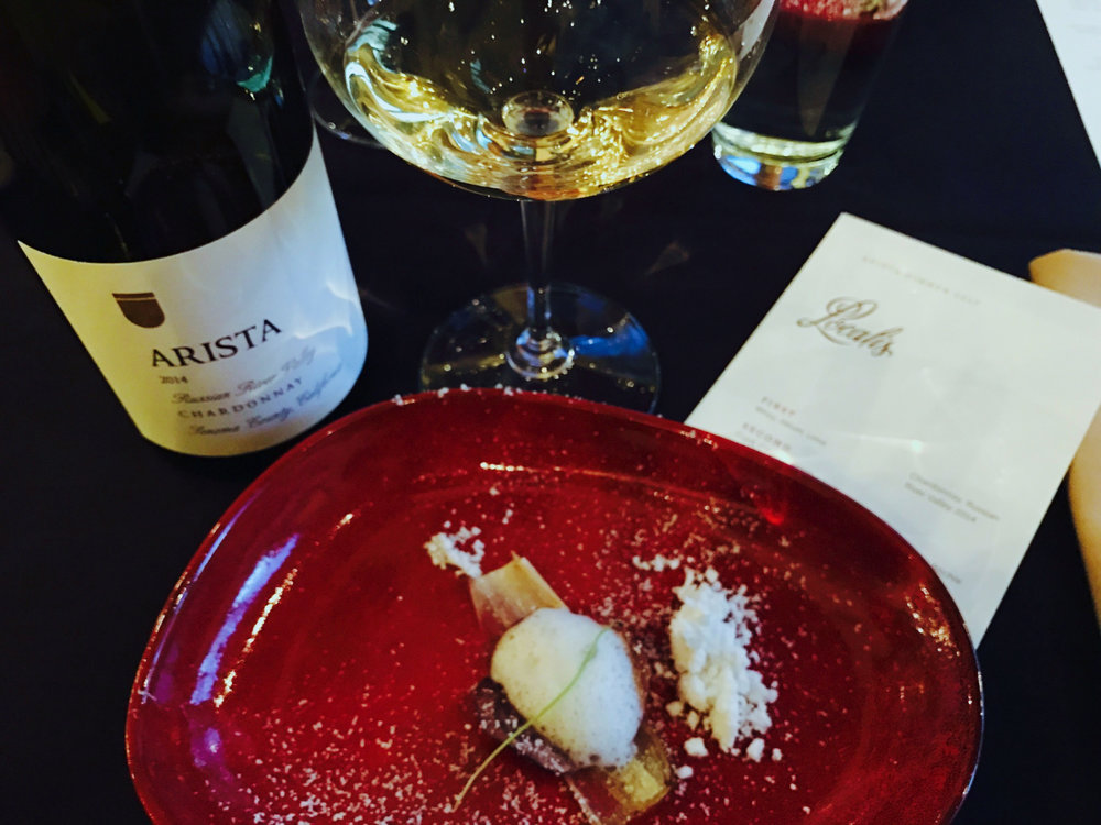 Paired with the Arista Chardonnay, Russian River Valley, 2014