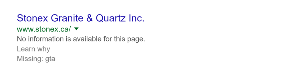 - By contrast, here is a company that has entered the page title, but no meta data. In place of he meta description is