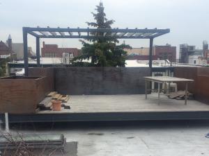 Berkeley Place rooftop - before