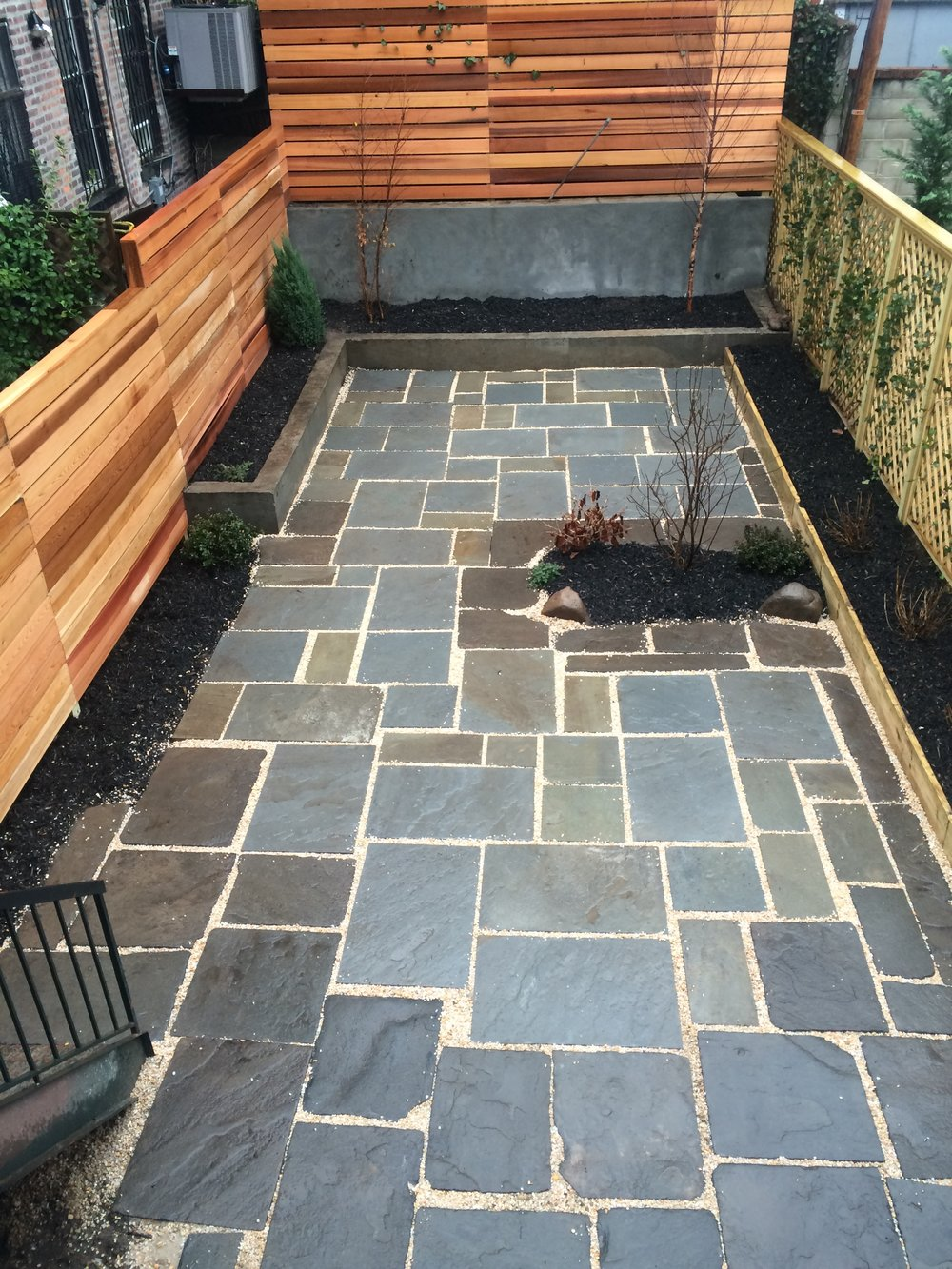 Mixing original bluestone seamlessly with modern quarried bluestone