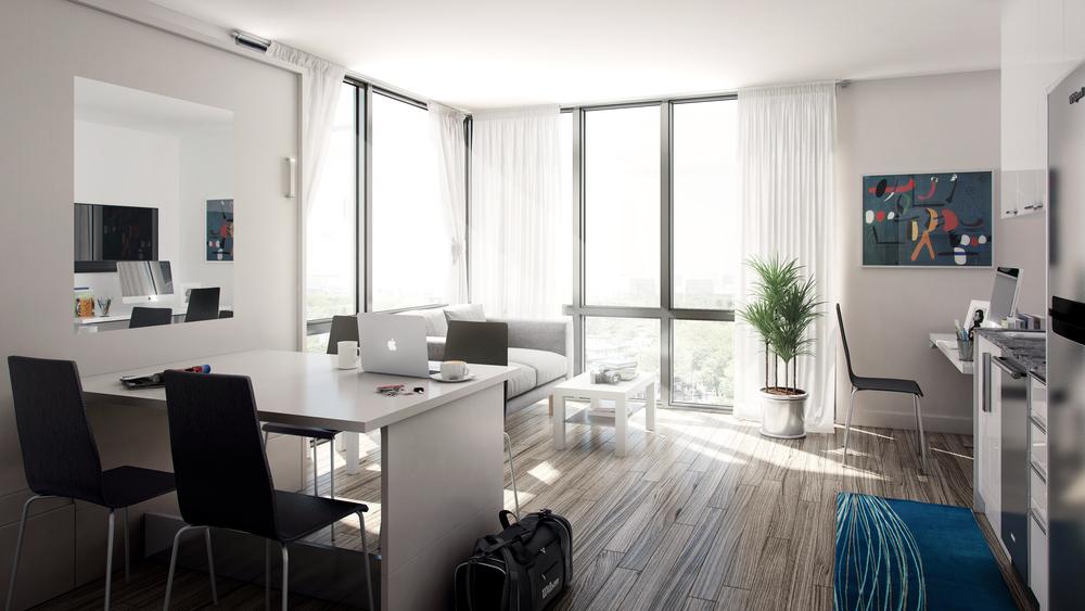 SmartStudiosTM Studio Suite Table bed Standing desk Fully furnished