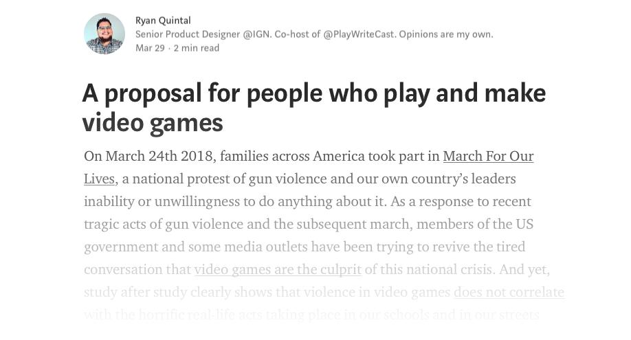 Q's Open Letter