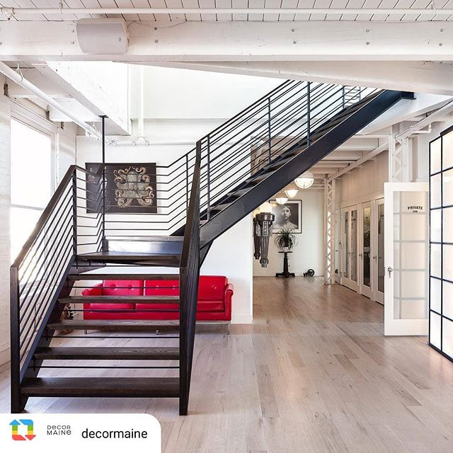 Thanks @decormaine for showcasing one of my favorite projects. Can't wait to see the full feature in print next week! Beautifully photographed by @myriambabinphotography . . . . . . .  #asagormanbuilder #customhome #portlandmaine #mainehome #residentialarchitecture #carpentry #customwork #interiordesign #stairs #custombuilding #fabrication #design #custom #modern #staircase #architecture #minimalism #metalstairs  #handbuilt  #interiors