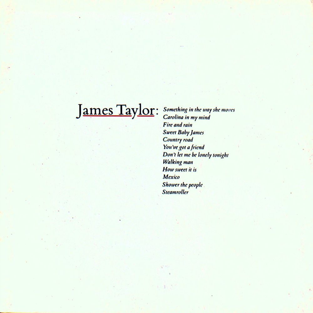 Greatest Hits Volume 1 James Taylor