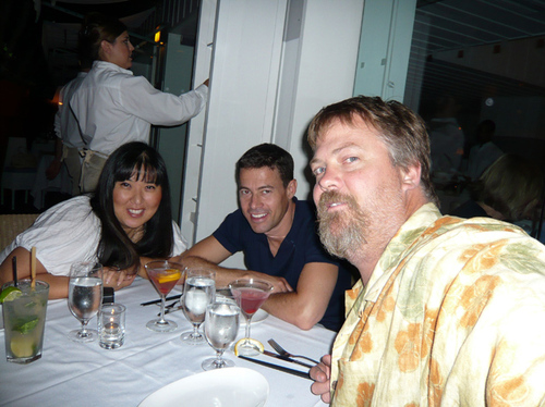 Helen Yu, John Leseberg, and longtime friend, dentist to the Stars, Steven Alper DMD