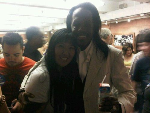 Helen Yu and Verdine White of Earth, Wind & Fire