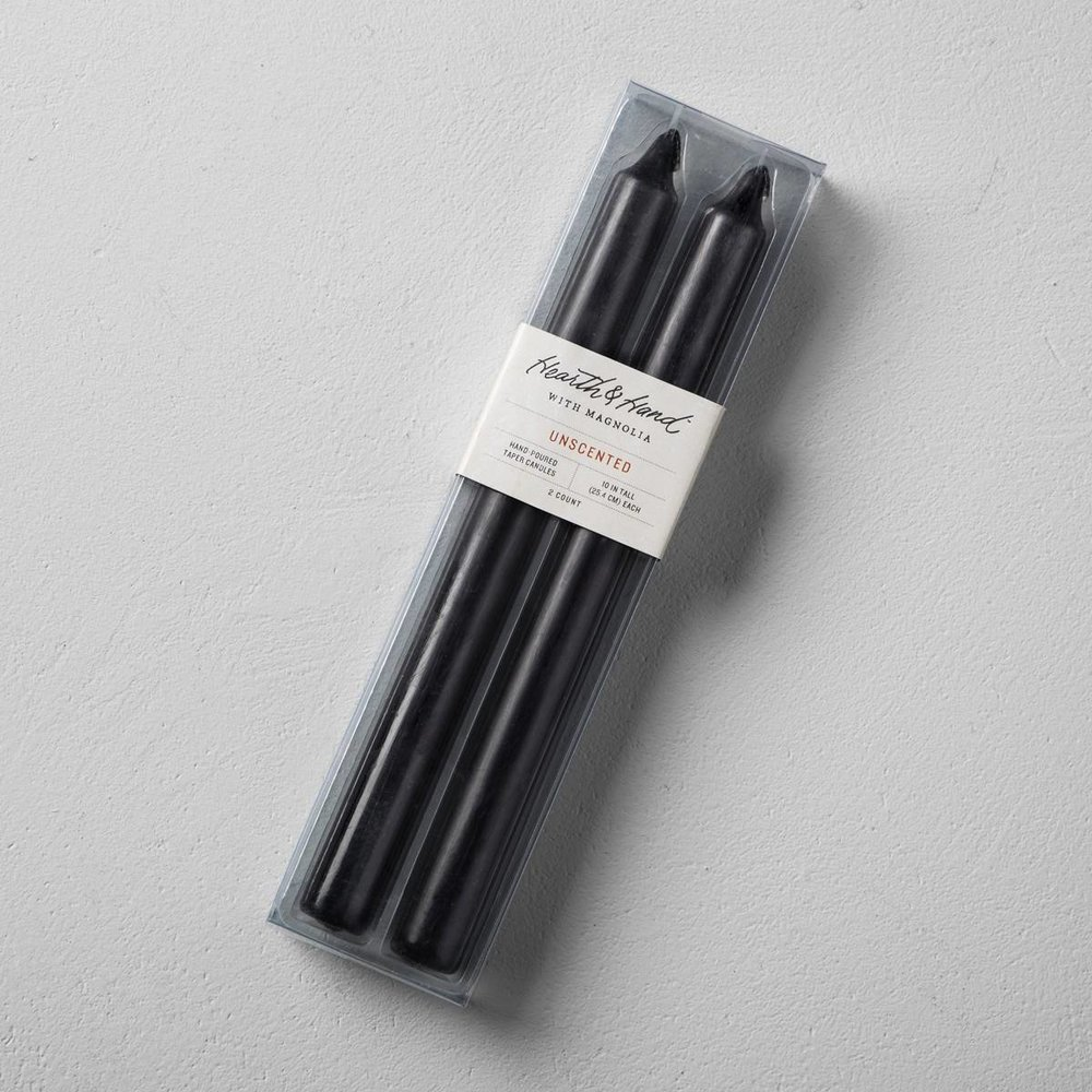 I am seeing black candles everywhere lately instead of the usual white. I'm a fan!