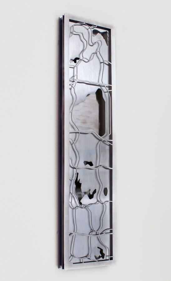 We created an all stainless steel, one of a kind piece of decor.