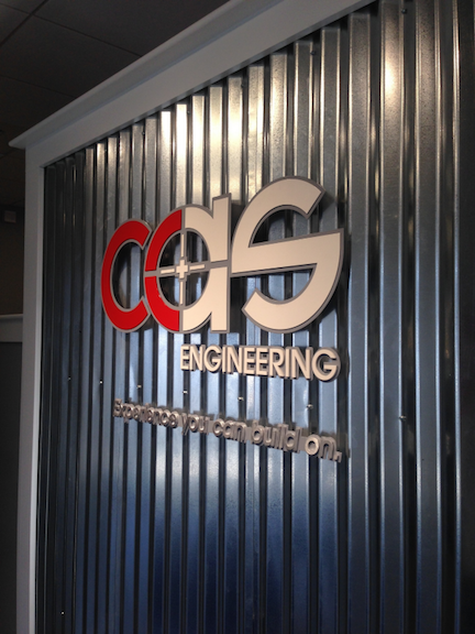 3D Custom Metal Business Signage - Indoor CAS Engineering