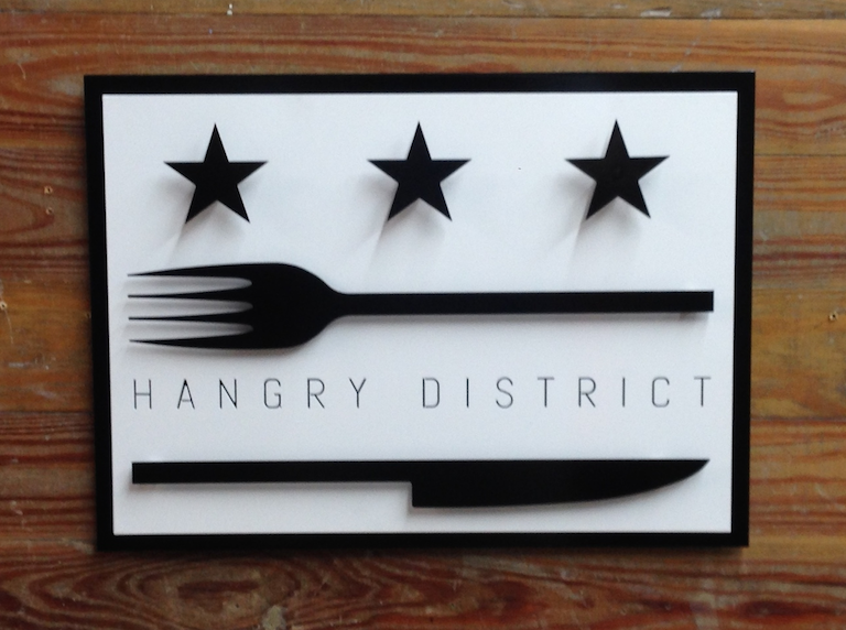 3D Custom Metal Business Signage - Hangry District Restaurant