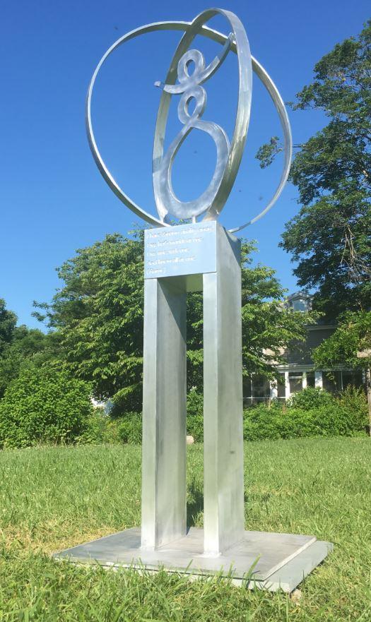 Rumi Sculpture - Custom Metal Sign.JPG