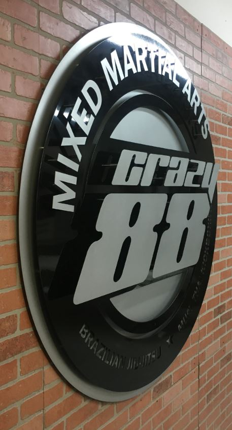 Crazy 88 - Custom Metal Sign.JPG