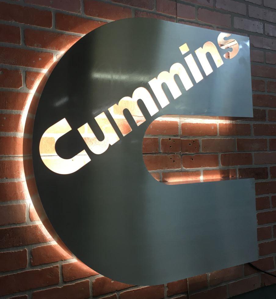Cummins - Custom Metal Sign.JPG