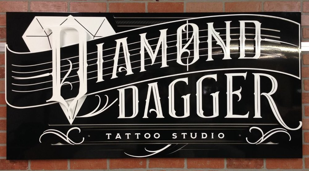 Diamond Dagger - Custom Metal Sign.JPG