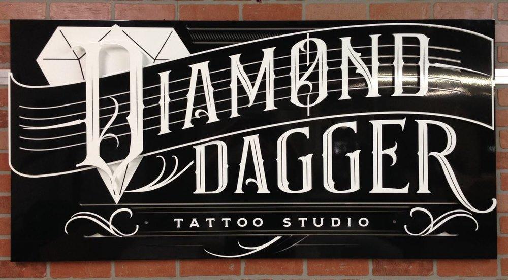 Diamond Dagger - Custom Metal Sign.JPG