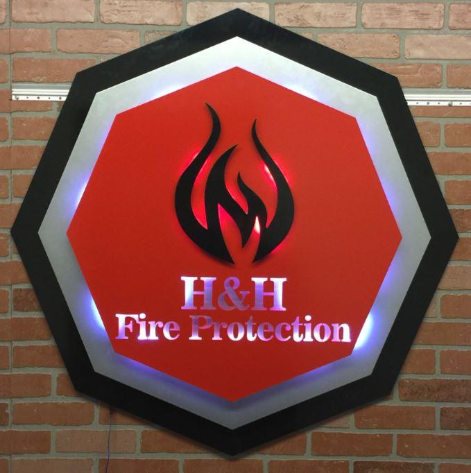 H&H Fire Protection - Custom Metal Sign.JPG