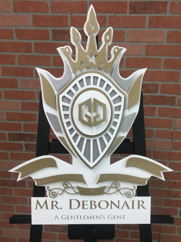 Mr Debonair - Custom Metal Sign.JPG