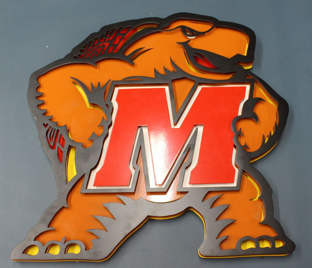 Maryland Terrapin - Many of our family members attended the University of Maryland and we just loved the logo, so we had to make it 3D!