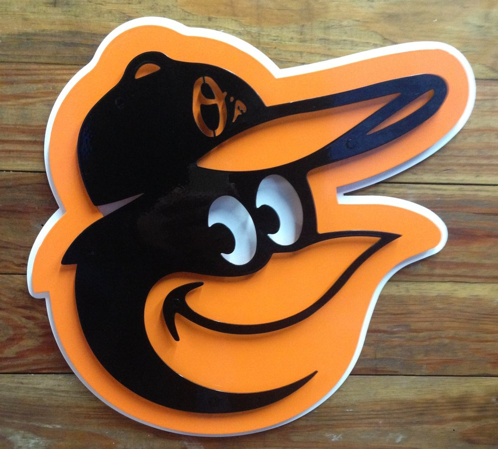 "Baltimore Orioles - This was actually the first design that we made with our ""3D"" process"