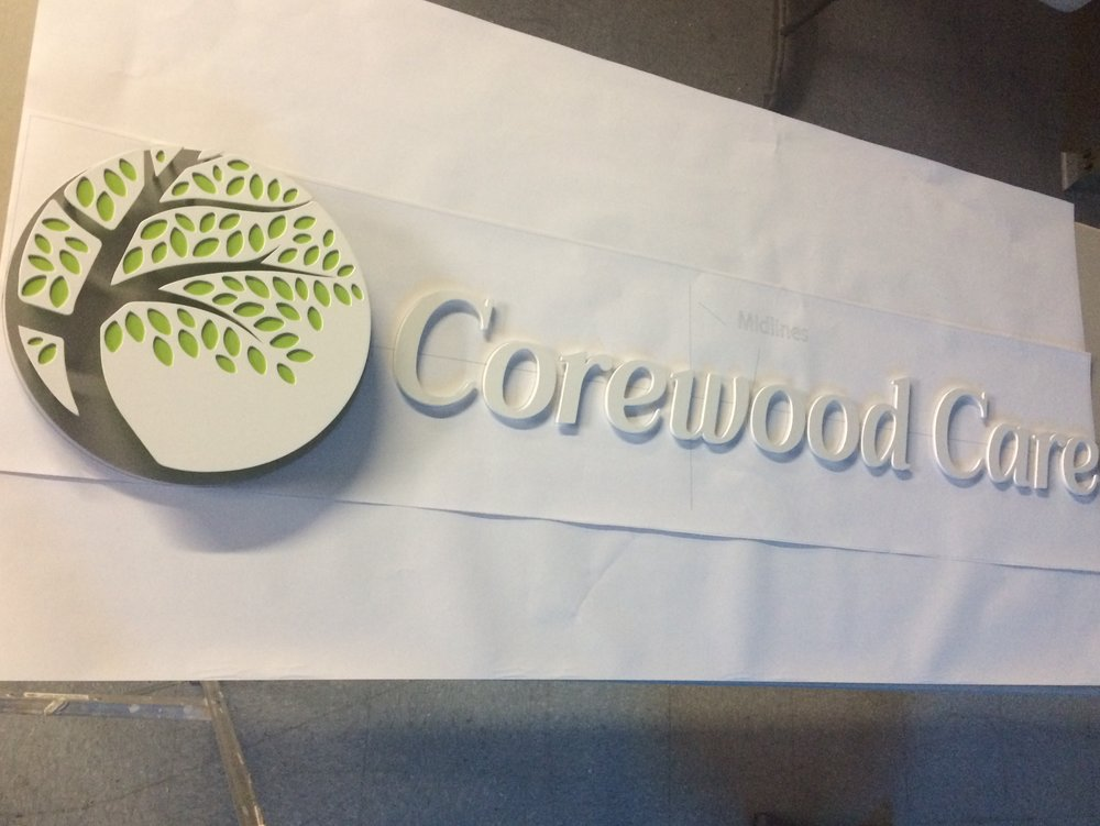 Custom Metal Sign-Corewood Care-left.JPG