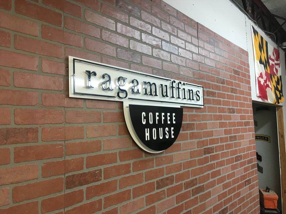 Custom Metal Sign- Ragamuffins Coffee House-Left.JPG