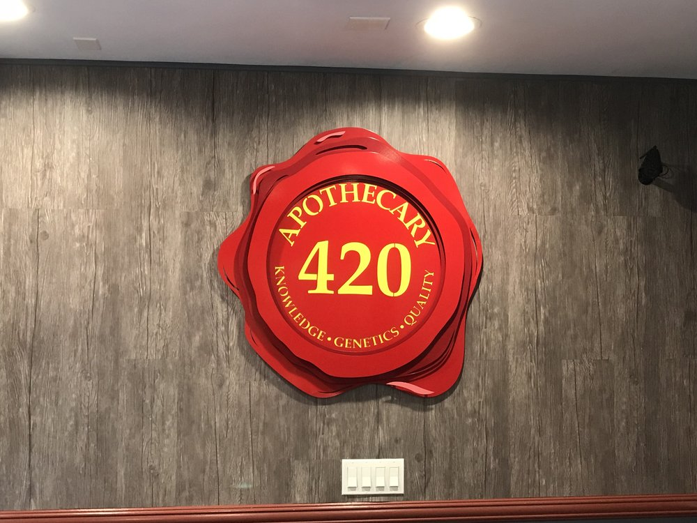 Custom Metal Sign-Apothecary 420-front-installed.jpg