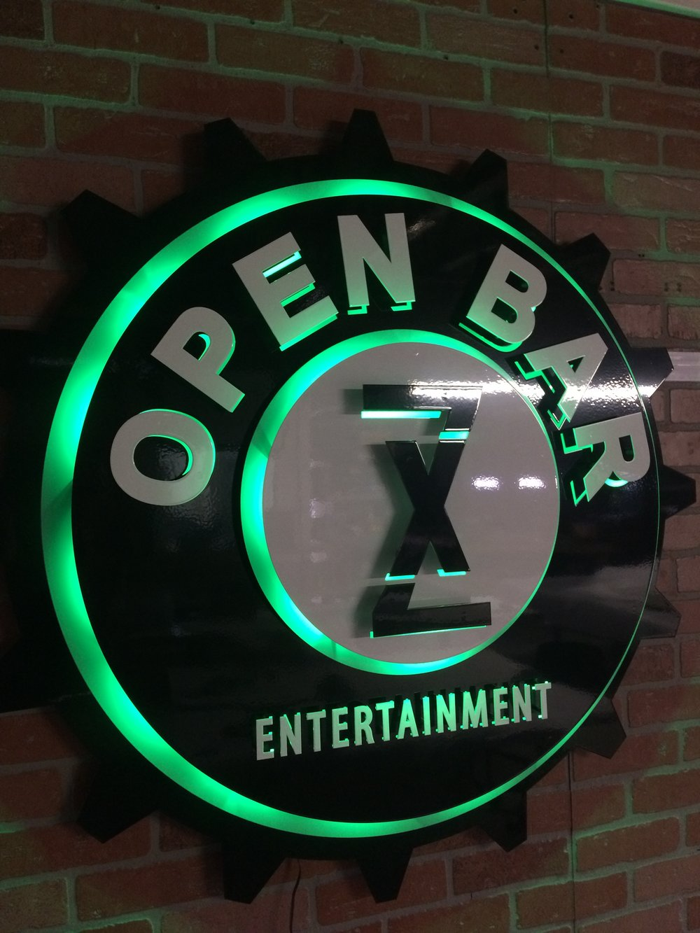 Custom Metal Sign-Open Bar-left-lit lights off.JPG