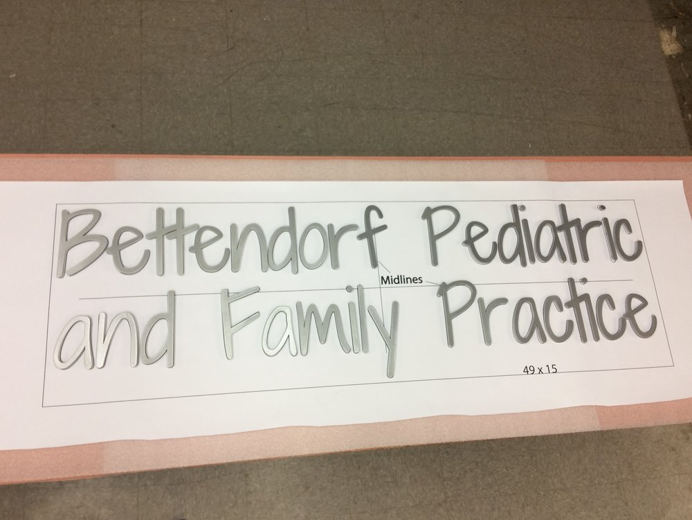 Custom Metal Sign-Bettendorf Pediatric-left.JPG