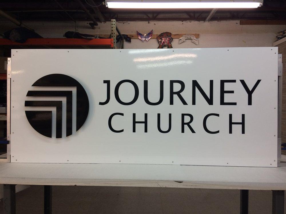 Custom Metal Sign-Journey Church-Front-2.JPG